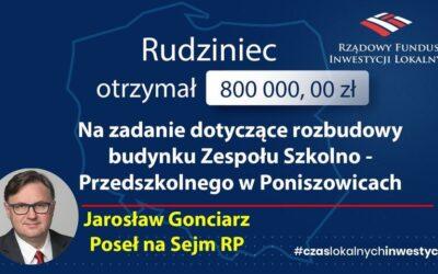 Rozbudowa Zespołu Szkolno Przedszkolnego w Poniszowicach